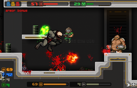 Download and play MiniDoom 2 - a parody retro platformer